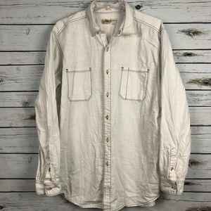 The Territory Ahead men's XL white L/S shirt